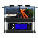 Viante-CUC-30ST-Intellisteam-Counter-Top-Food-Steamer-with-3-Separate-Compartments-0-1