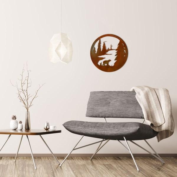 rust-bear-circle-over-gray-chair