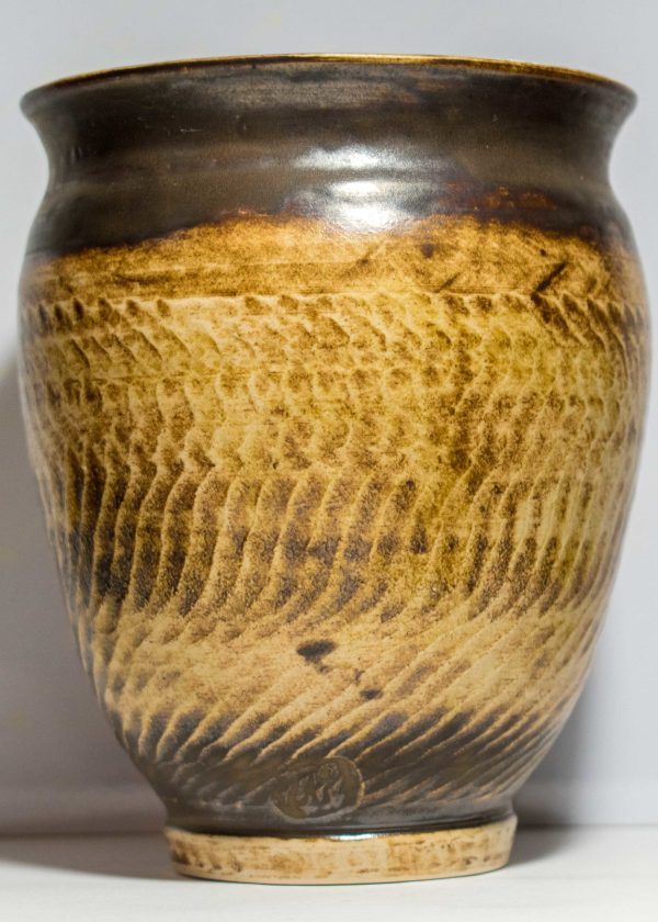 Wavy Gold Vase