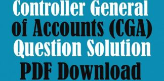 Controller General of Accounts (CGA) Question ‍Solution PDF Download