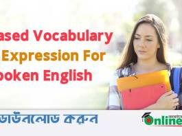 Topic Based Vocabulary & Expression For Spoken English