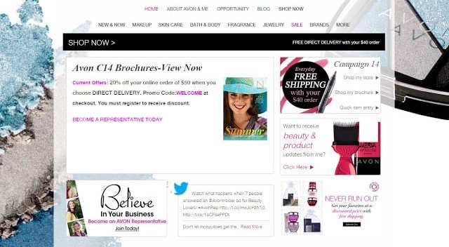 shopping and selling avon online