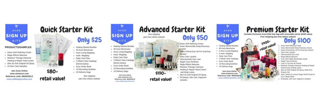 start selling avon online