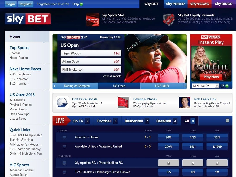 SkyBet Live Streaming