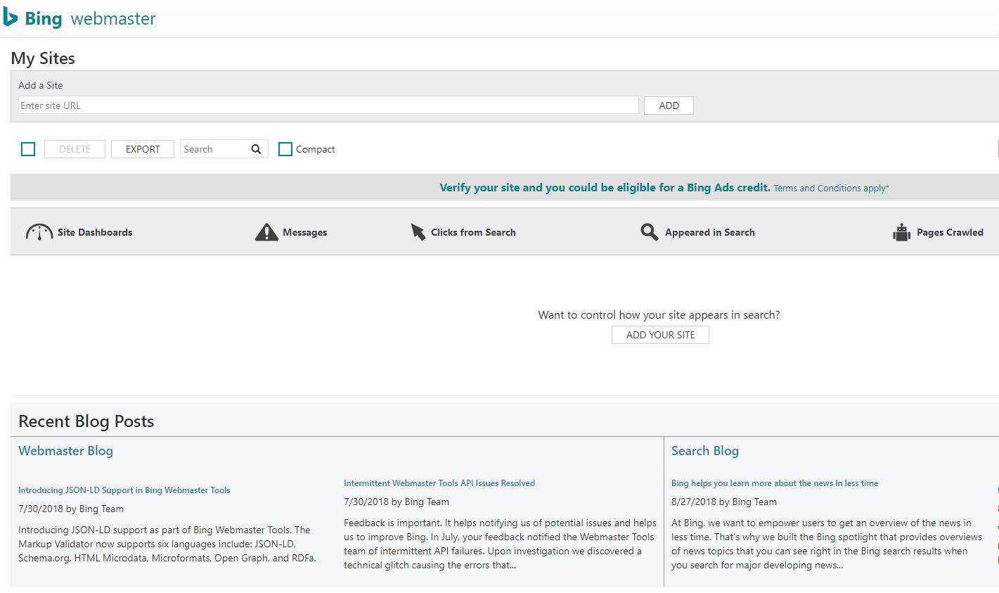 Outils Bing SEO pour les webmasters