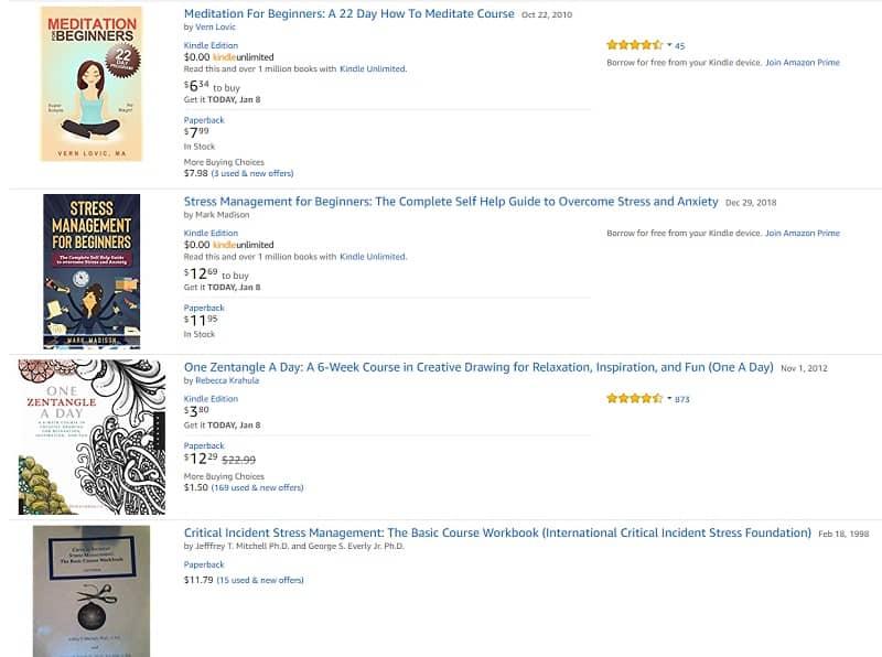Amazon.com stress management course