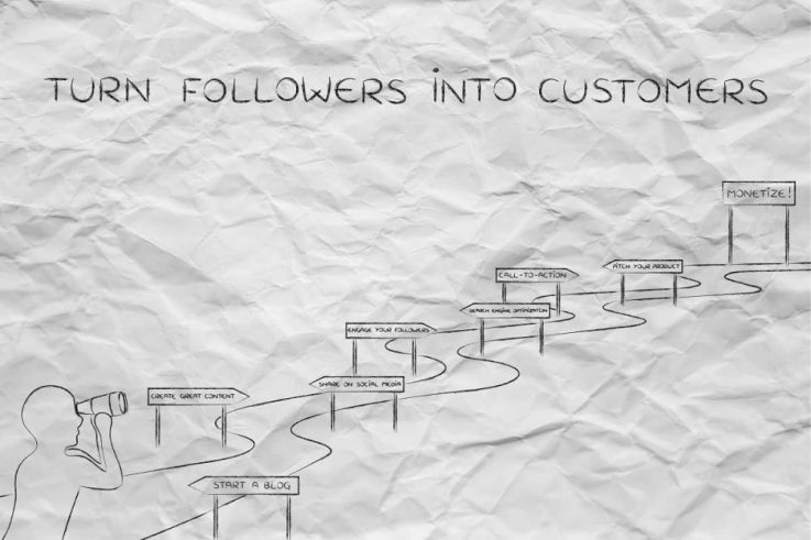 turn followers into customers