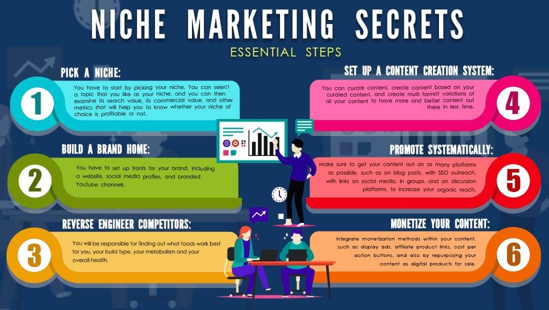 niche marketing secrets_essential steps