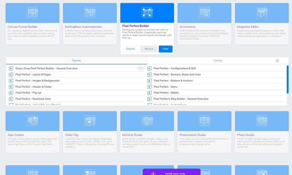 builderall review_pixel perfect builder