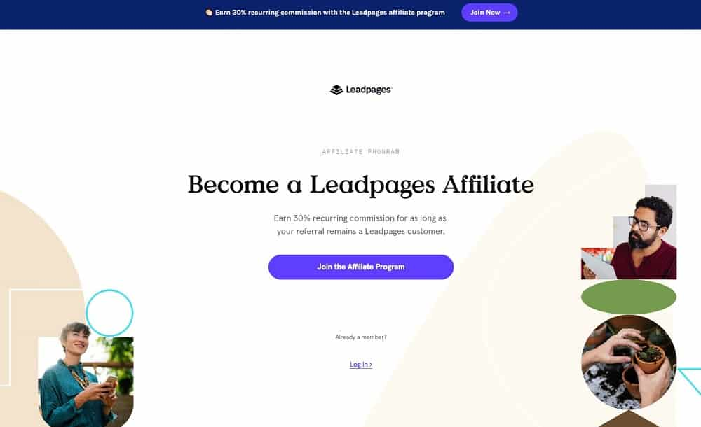 afiliado de leadpages