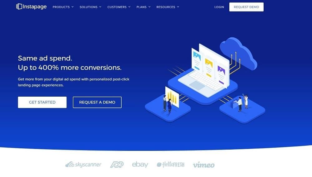 mejor software de marketing online - instapage