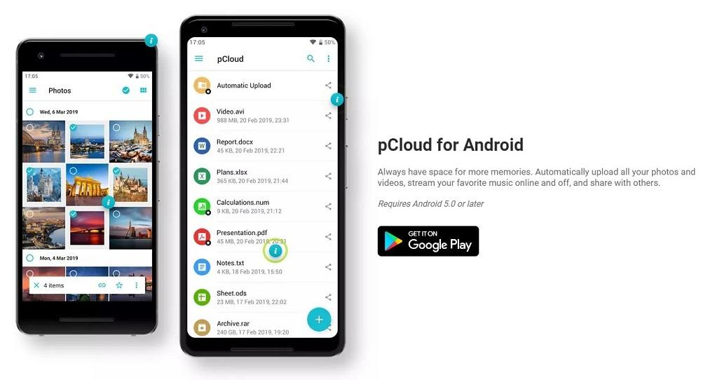 pCloud for android