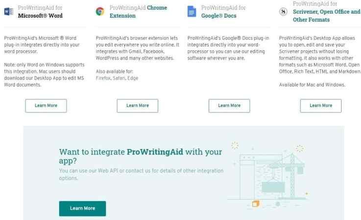 ProWritingAid integration