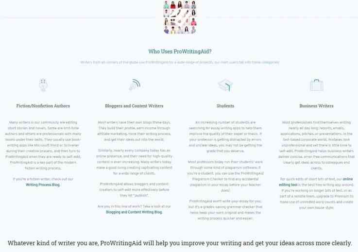 ProWritingAid target users_