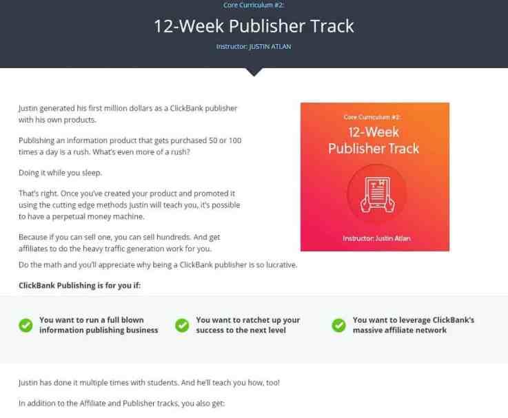 Traccia publisher di 12 settimane