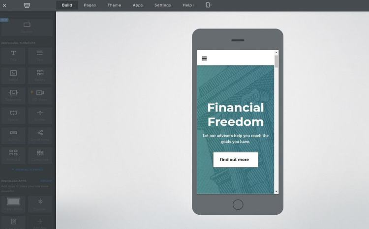 Weebly responsiveness - mobile editor