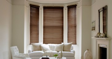 Amber Faux Wood Venetian Blinds Affordable & High Quality