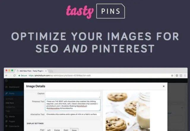 Tasty Pins - Optimize your blog post images for SEO and Pinterest