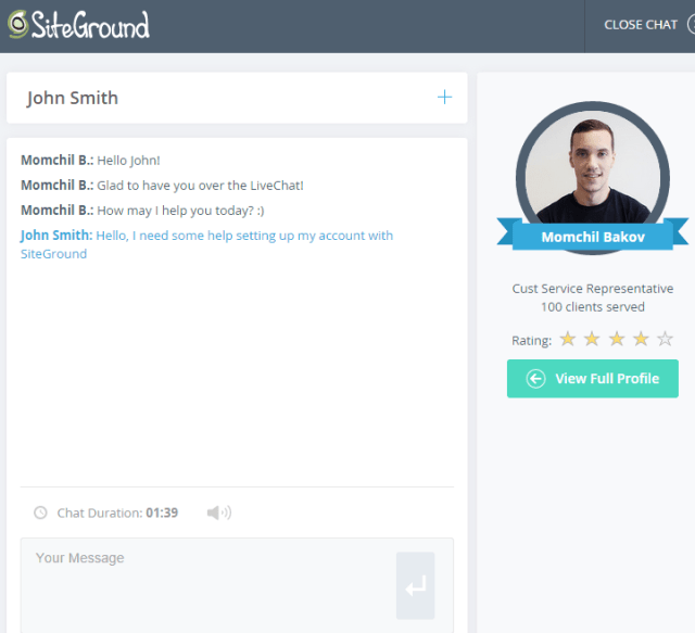 Siteground chat