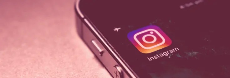 Instagram Logo on iPhone screen