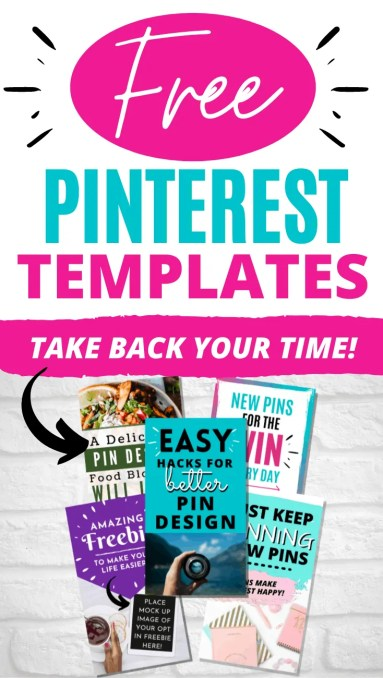Free Pinterest Pin Templates for Canva