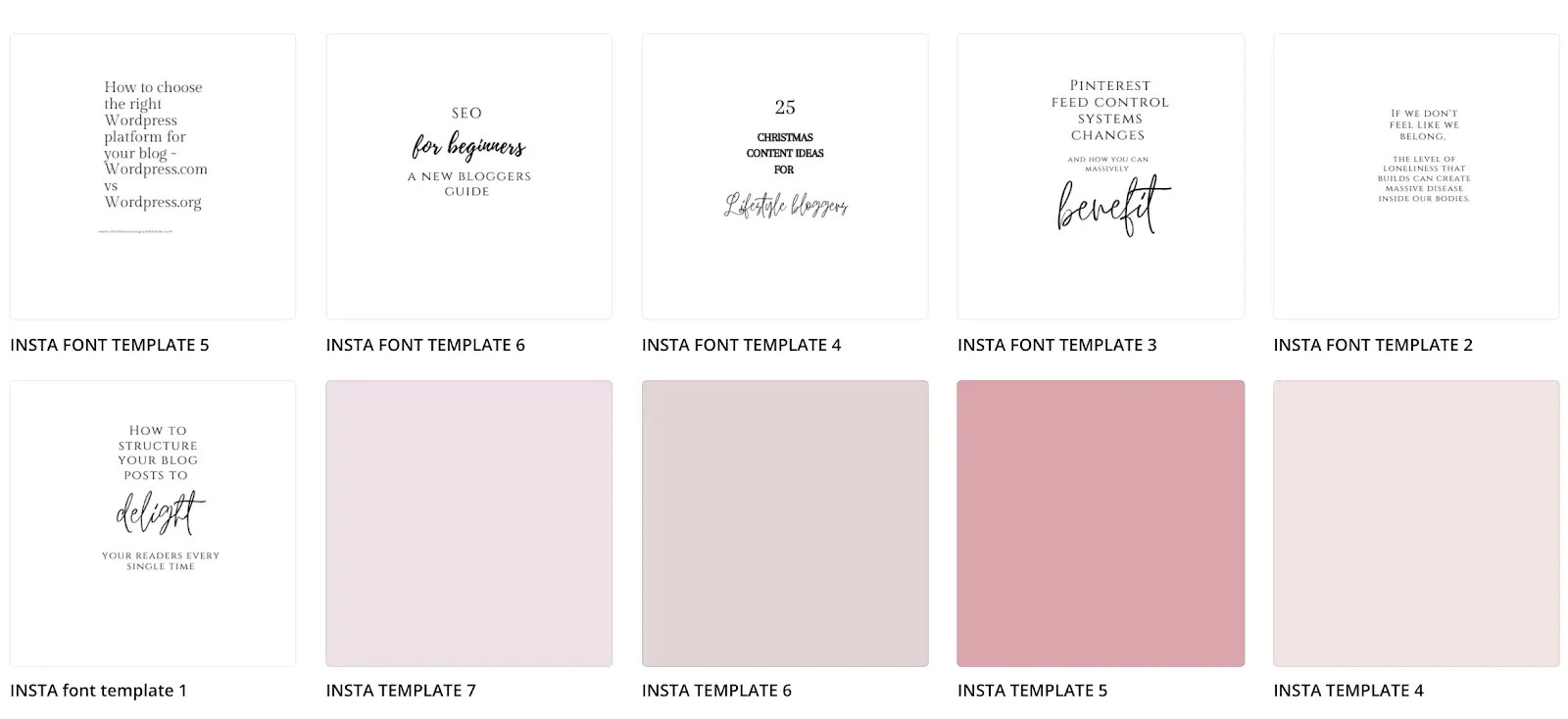How to create Instagram templates in Canva