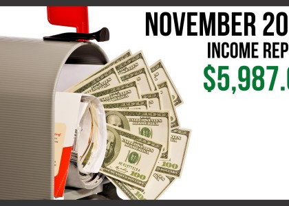 November 2016 Monthly Income Report
