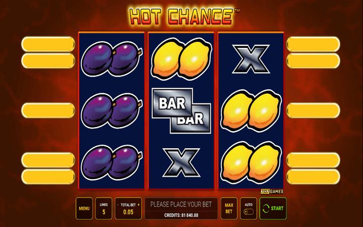 Hot Chance, meridian online casino, bonus, voćkice