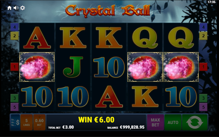 Crystal Ball, Meridian online casino, online free spins