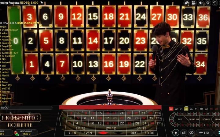 Lightning Roulette, Evolution, Online Casino Bonus
