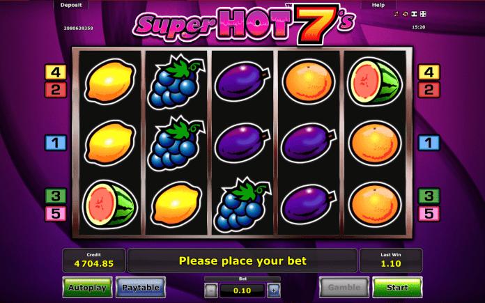 Super Hot 7's. Greentube, Online Casino Bonus