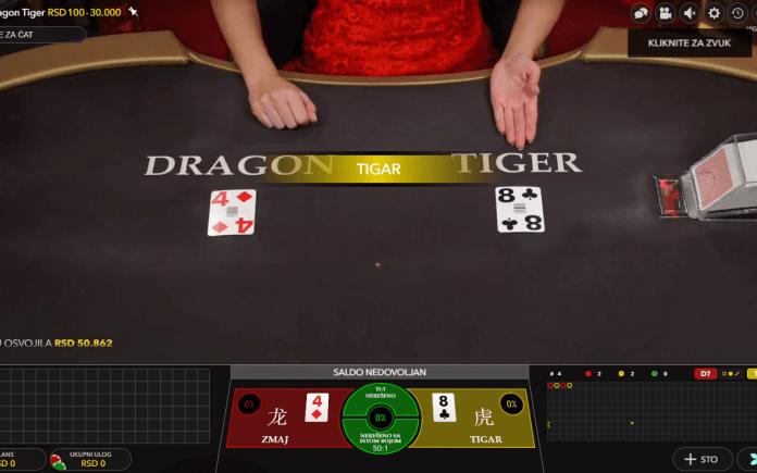 Dragon Tiger, Evolution, Online Casino, Baccarat