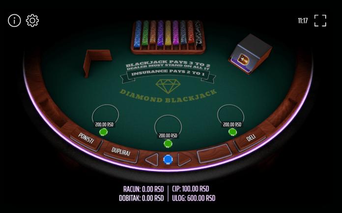 Diamond Blackjack, 3 hands, Mb Games, Expanse, Online Casino Bonus