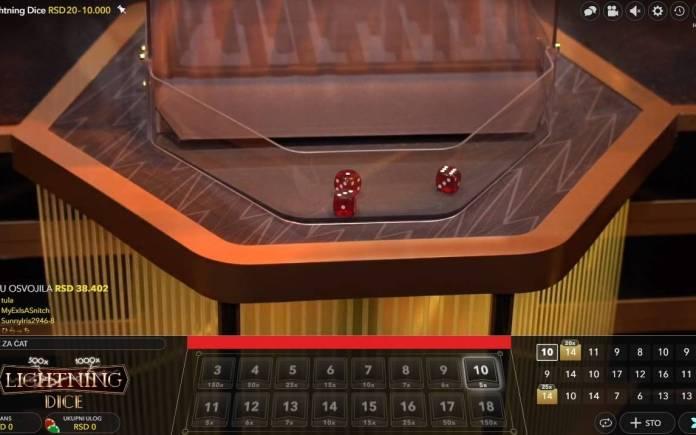 Lightning Dice, Evolution, Online Casino Bonus