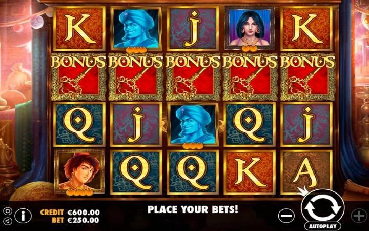 Bonus, online casino bonus, Aladdin's Treasure