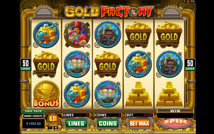 Gold Factory, Microgaming, Online Casino Bonus