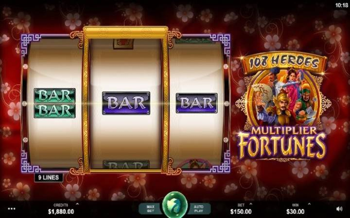 108 Heroes Multiplier Fortunes, Online Casino Bonus