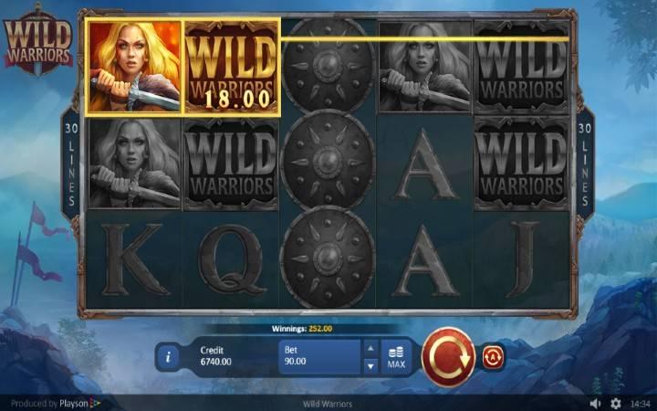 Wild Warriors, Online Casino Bonus