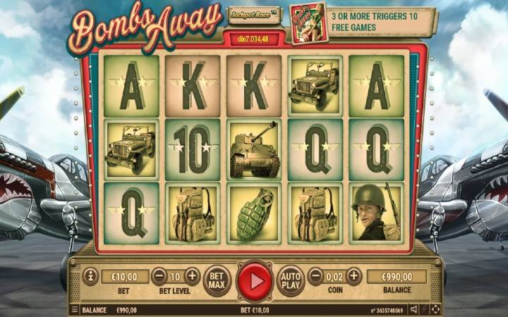 Bombs AWAY, Online casino bonus