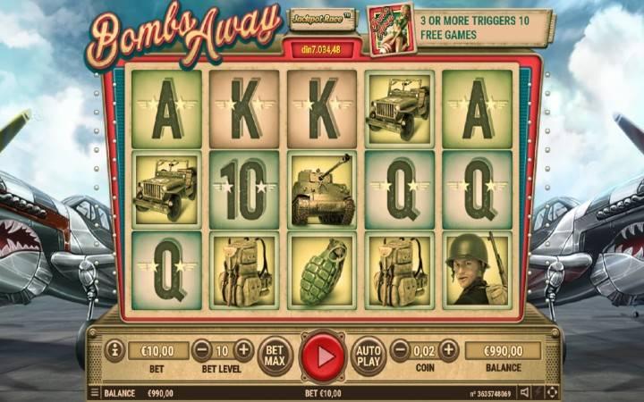 Bombs AWAY, Online casino bonus