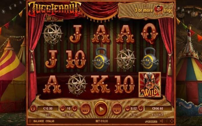 Jugglenaut, online casino bonus