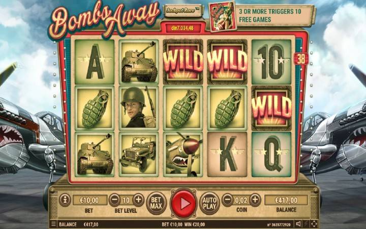 Online Casino Bonus, Bombs Away