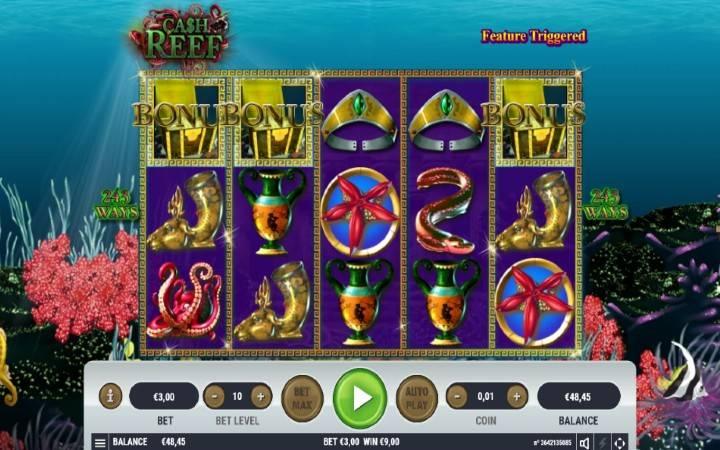 Cash Reef, besplatni spinovi, Bonus Casino