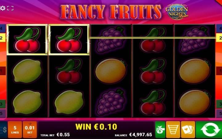 Fancy Fruits Golden Nights, Online casino bonus