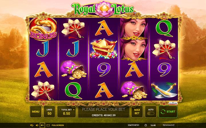 Royal Lotus, Greentube, Novomatic, Online Casino Bonus
