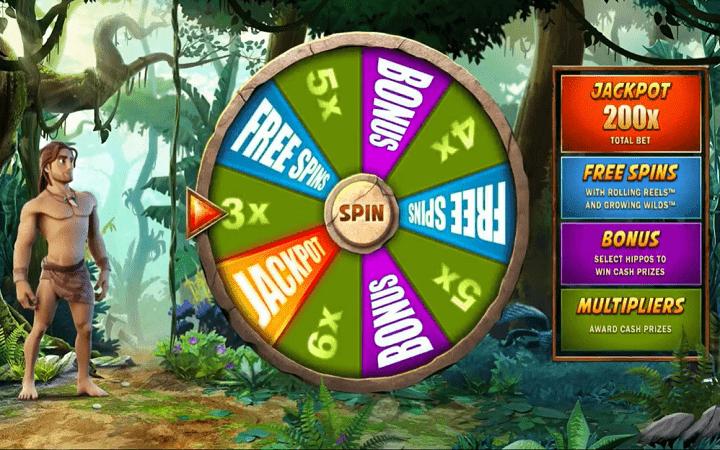 Tarzan, Microgaming, Online Casino Bonus