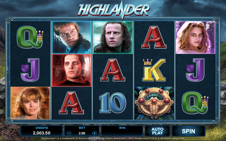 Highlander, Microgaming,  Bonus Casino