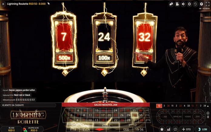 Lightning Roulette, Evolution Gaming, Online Casino Bonus