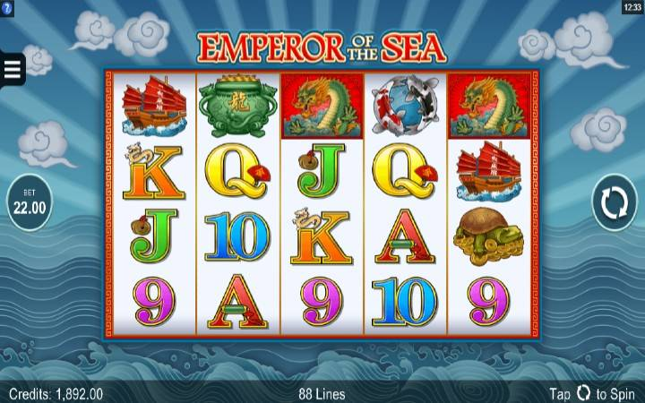 Emperor of the Sea, online casino bonus