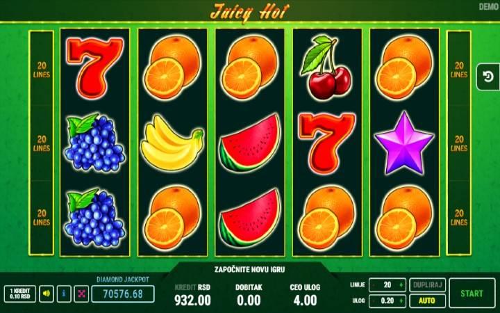 Juicy Hot, Online Casino Bonus